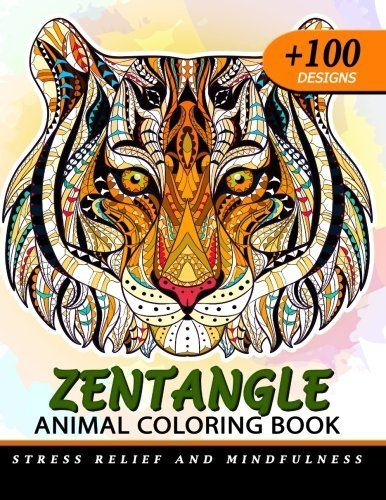 100+ Zentangle Animal Coloring Book for Adults: Design For Relaxation of Animals
