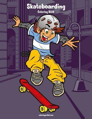 Skateboarding Coloring Book 1
