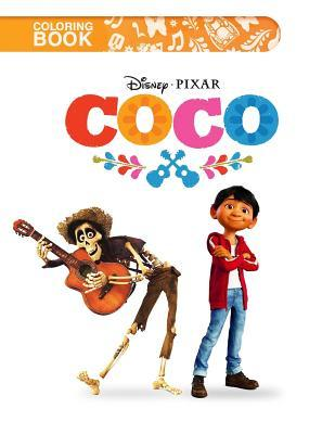Coco Coloring Book: Famous Disney Pixar Characters from Coco Animation