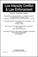 Low Intensity Conflict and Law Enforcement, Vol. 11, Number 1, Spring 2002