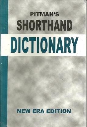 PITMANS SHORTHAND DICTIONARY