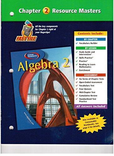 Algebra 2 Chapter 2 Resource Masters