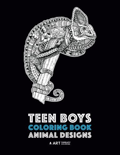 Teen Boys Coloring Book: Animal Designs: Complex Animal Drawings for Older Boys & Teenagers; Zendoodle Lions, Wolves, Bears, Snakes, Spiders, Scorpions & More