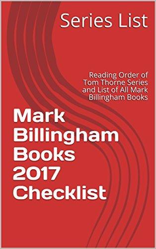 Mark Billingham Books 2017 Checklist: Reading Order of Tom Thorne Series and List of All Mark Billingham Books