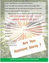 Are You Nutrient Savvy?: Crave What Your Body Needs Not What It Has Become Addicted To