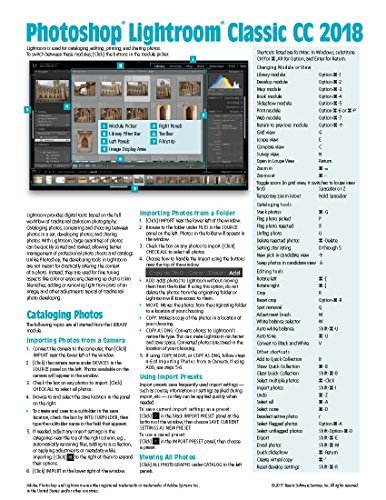 Adobe Photoshop Lightroom CC 2018 Classic Introduction Quick Reference Guide