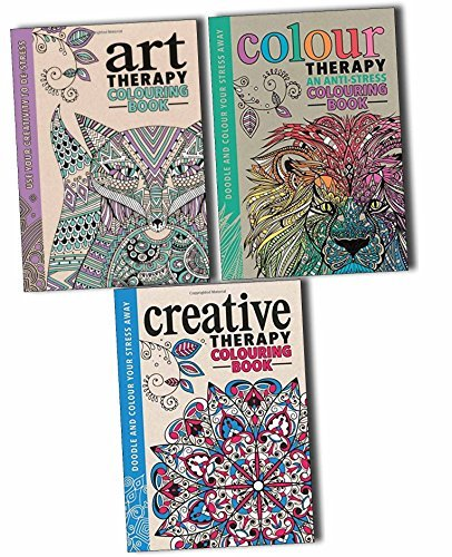 The Art Colour Creative Therapy Anti Stress Adult Colouring Books Collection, (The Art Therapy Colouring Book (Colouring for Grown-ups), Colour Therapy and The Creative Therapy Colouring Book)