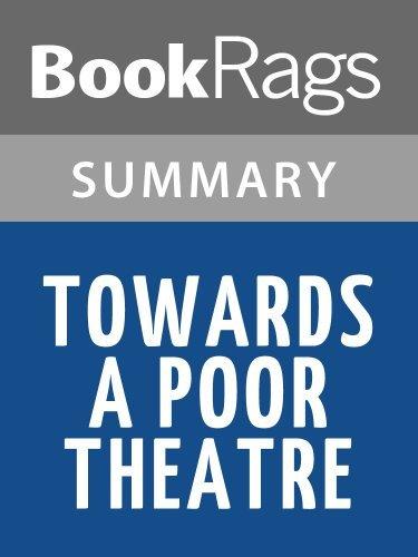 Summary & Study Guide Towards a Poor Theatre by Jerzy Grotowski