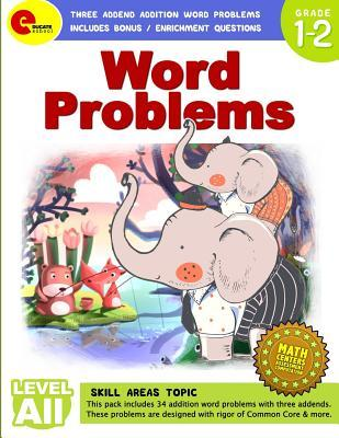 Word Problem: Three Addend Addition Word Problems: Includes Bonus / Enrichment Questions for 1st, 2nd Grade