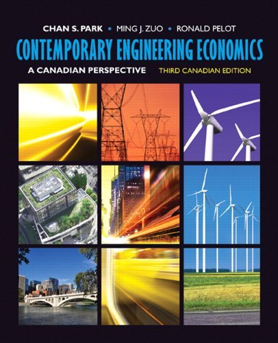 Contemporary Engineering Economics: A Canadian Perspective