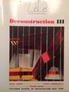 Deconstruction III: Architectural Design