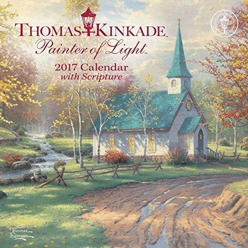 Thomas Kinkade Painter of Light with Scripture 2017 Mini Wall Calendar