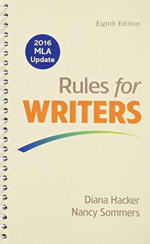 Rules for Writers 8e with 2016 MLA Update & Writer's Help 2.0