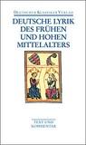 Deutsche Lyrik des frühen und hohen Mittelalters