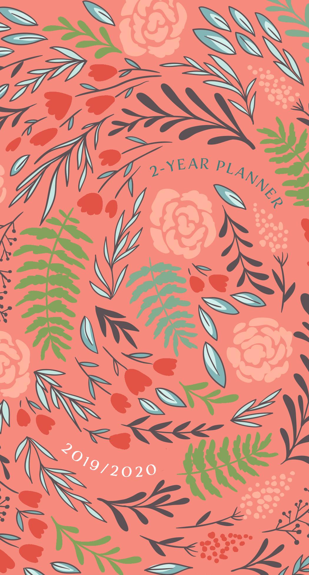 Coral Floral 2019/2020 Planner: 2-Year Pocket Planner