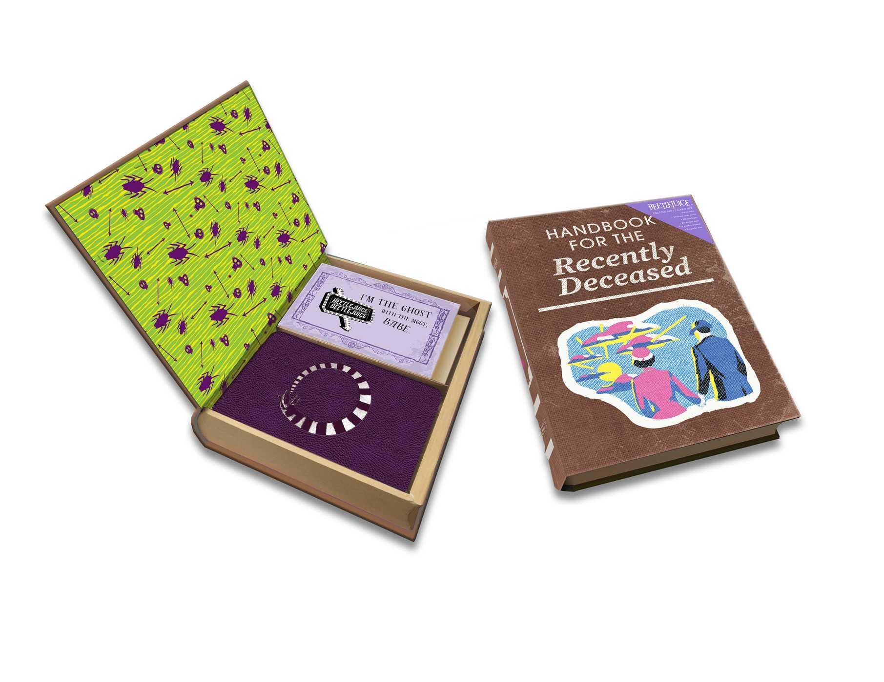 Beetlejuice: Handbook for the Recently Deceased Deluxe Note Card Set (With Keepsake Book Box)