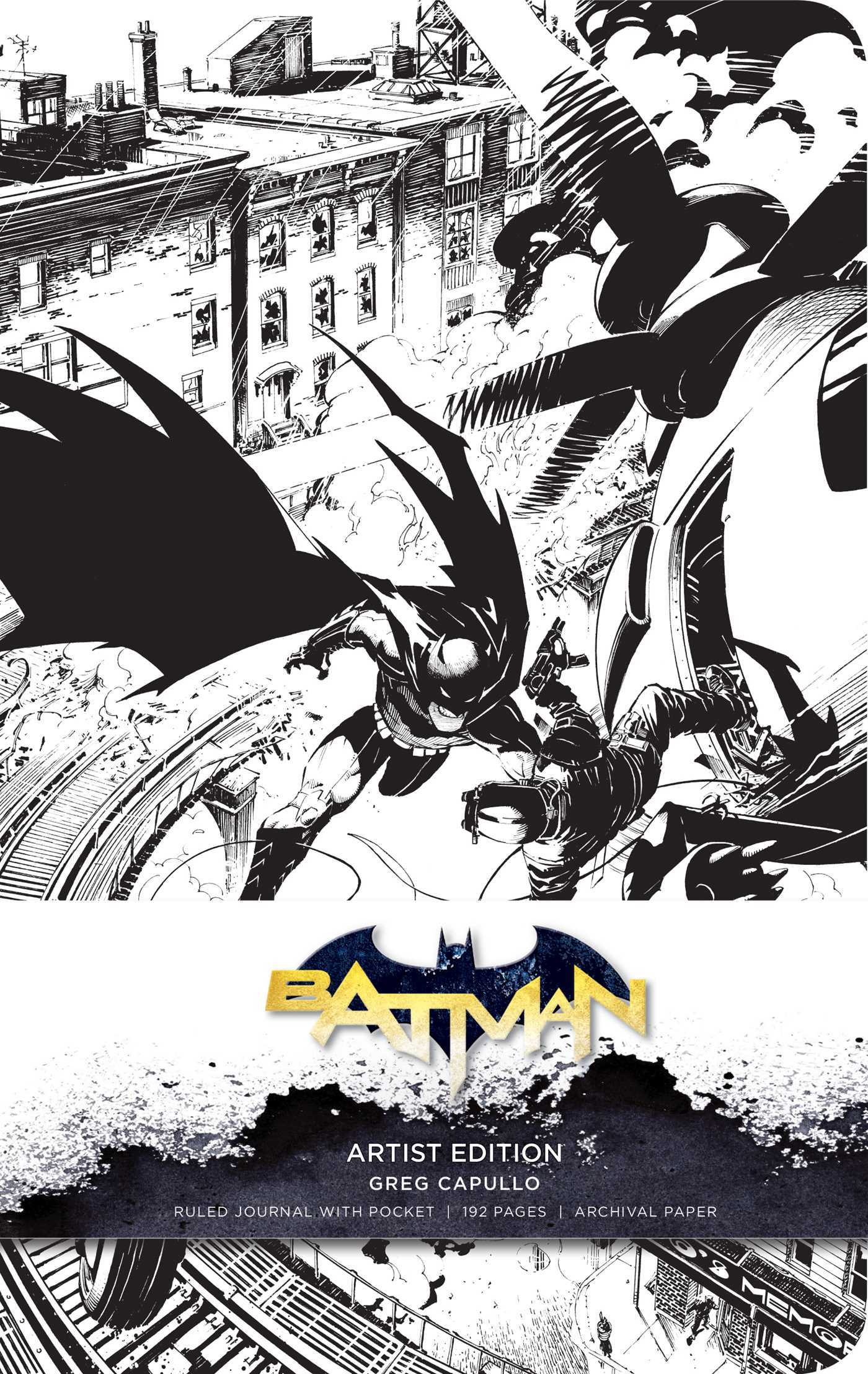 DC Comics: Batman Hardcover Ruled Journal: Artist Edition: Greg Capullo