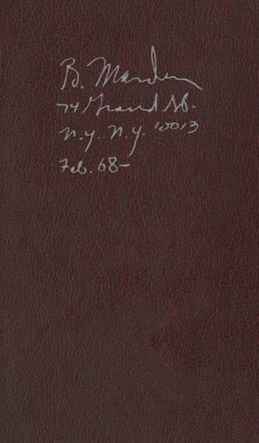 Brice Marden: Notebook Feb. 1968-