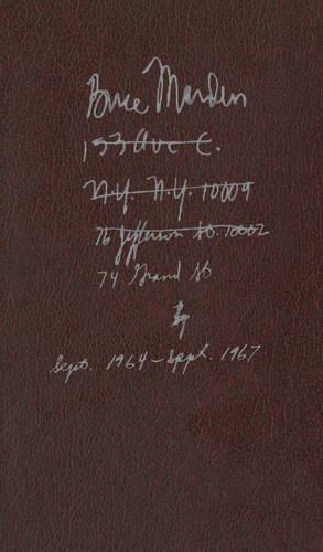 Brice Marden: Notebook Sept. 1964-Sept. 1967