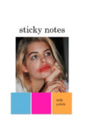 sticky notes by Indy Yelich