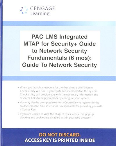 Lms Integrated for Mindtap Computing, 1 Term (6 Months) Printed Access Card for Ciampa's Comptia Security+ Guide to Network Security Fundamentals, 5th