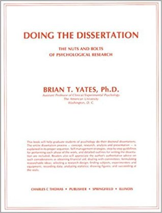 Doing the Dissertation: The Nuts and Bolts of Psychological Research