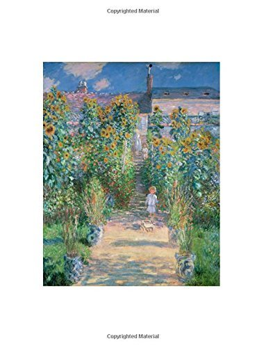 "Claude Monet ""The Artist's Garden at Vetheuil"" Notebook: Decorative Notebook - 70 Sheet 