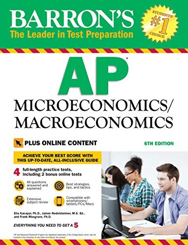 Barron's AP Microeconomics/Macroeconomics, 6th edition With Bonus Online Tests
