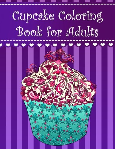 Cupcake coloring book for adults