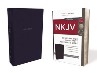 NKJV, Reference Bible, Personal Size Giant Print, Leathersoft, Blue, Red Letter, Comfort Print: Holy Bible, New King James Version