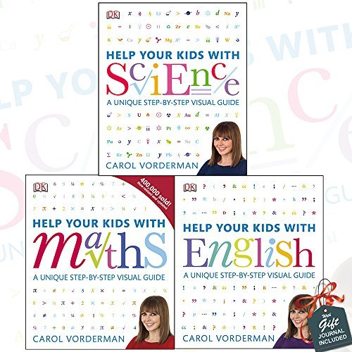 Help Your Kids with Science, English and Maths 3 Books Bundle Collection with Gift Journal