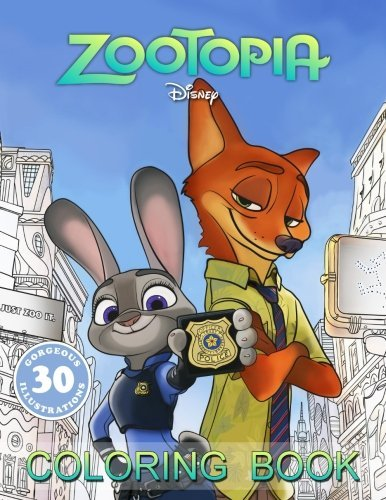 Coloring Book based on ZOOTOPIA cartoon, for Kids and Adults, 30 EXCLUSIVE Illustrations