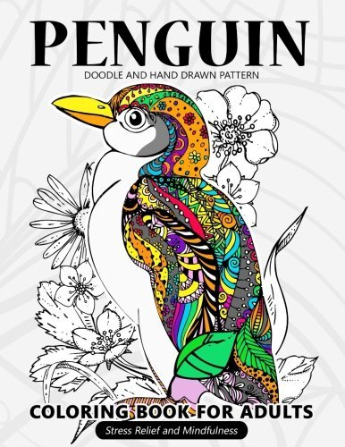 Penguin Coloring Book for Adults: Stress-relief Coloring Book For Grown-ups