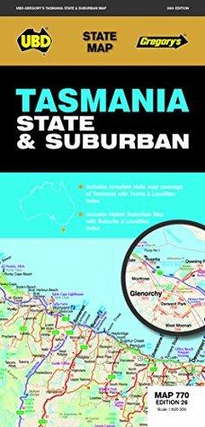 Tasmania State & Suburban Map 770 26th ed
