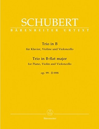 Schubert: Piano Trio in B-flat Major, Op. 99, D 898 [Bärenreiter]