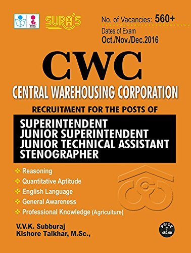 Central Warehousing Corporation (CWC)Recruitment Exam Books