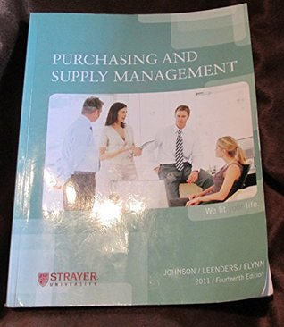 Purchasing and supply management by p fraser johnson fandeluxe Gallery