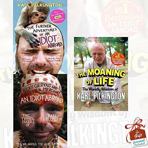 Karl Pilkington Collection 3 Books Bundle With Gift Journal