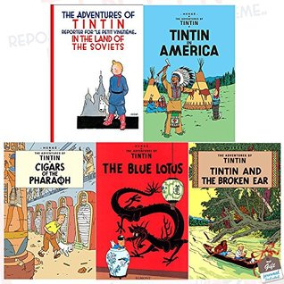 The Adventures of Tintin Collection Series 1 : 5 Books Set With Gift Journal