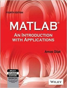Matlab: An Introduction with Applications 4th Edition
