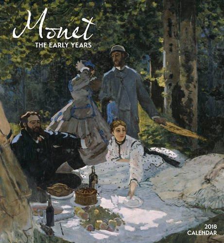 Monet, the Early Years 2018 Wall Calendar