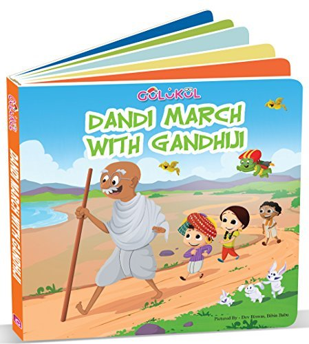 Dinner with Mahatma Gandhi and Dandi March Indian Culture Board Book for Kids