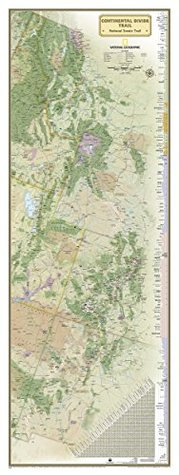 National Geographic: Continental Divide Trail Wall Map - laminated (18 x 48 inches) (National Geographic Reference Map)