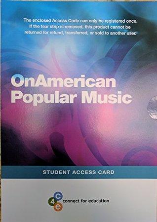 OnAmerican Popular Music Access Code