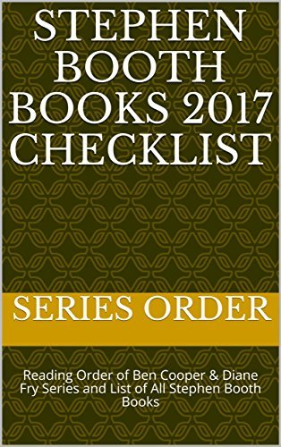 Stephen Booth Books 2017 Checklist: Reading Order of Ben Cooper & Diane Fry Series and List of All Stephen Booth Books