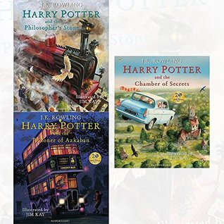 harry potter illustrated edition 3 books collection set
