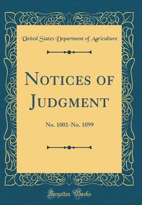 Notices of Judgment: No. 1001-No. 1099