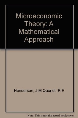 Henderson Quandt Microeconomic Theory Pdf