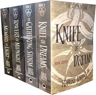 Robert Jordan The Wheel of Time Collection 4 Books Set Series 3 (Book 11-14) (Knife Of Dreams, The Gathering Storm, Towers Of Midnight, A Memory Of Light)