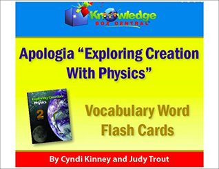 Apologia Vocabulary Word Flash Cards - Exporing Creation with Physics